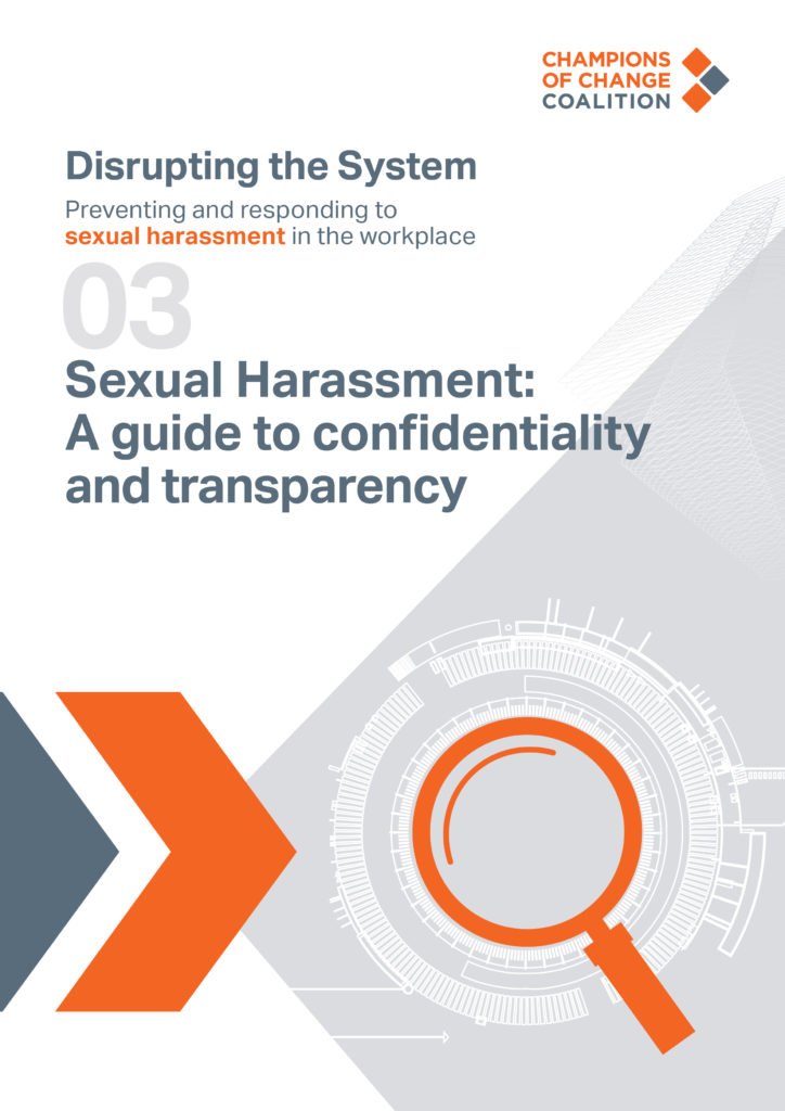 Sexual harassment a guide to confidentially and transparency