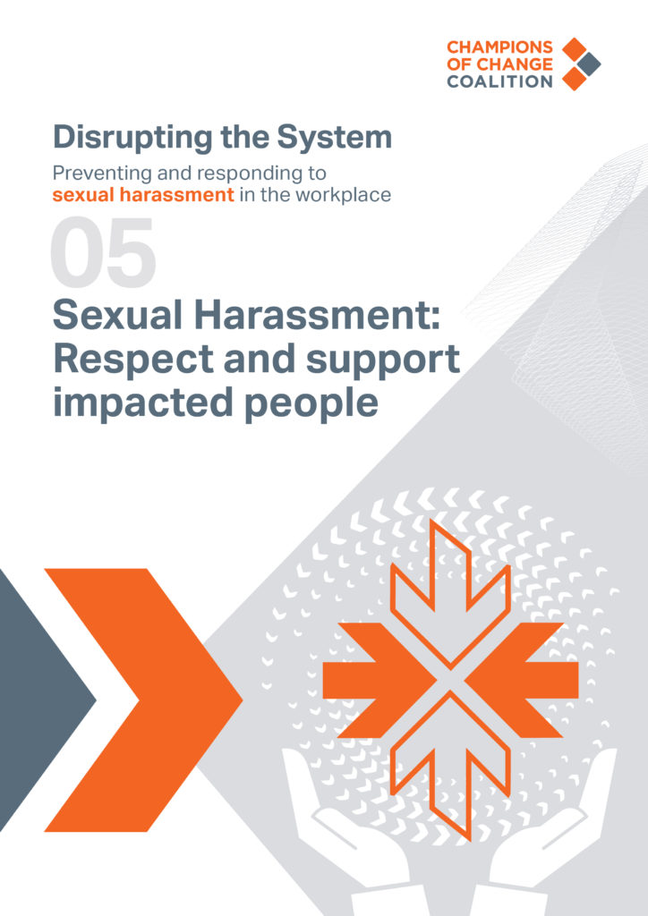 sexual harassment respect and support impacted people